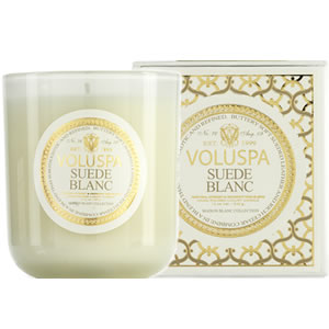 Voluspa Suede Blanc Classic Candle Candles Off Main