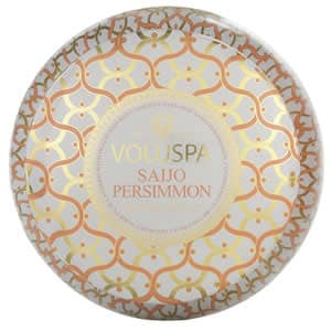 Voluspa Saijo Persimmon 2 Wick Tin Candle